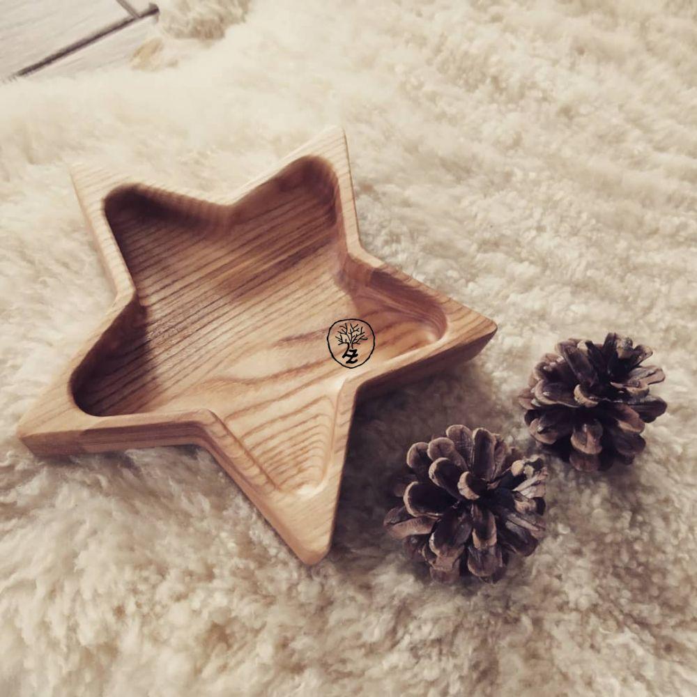 dřevěná miska hvězda