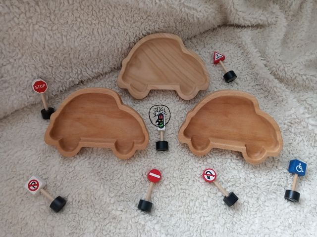 dřevěná miska autíčko