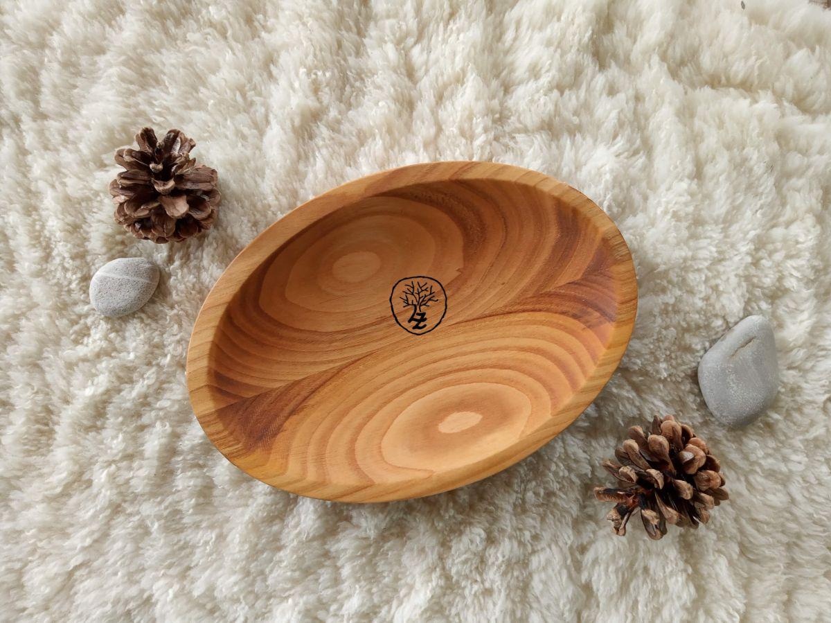dřevěná miska ovál