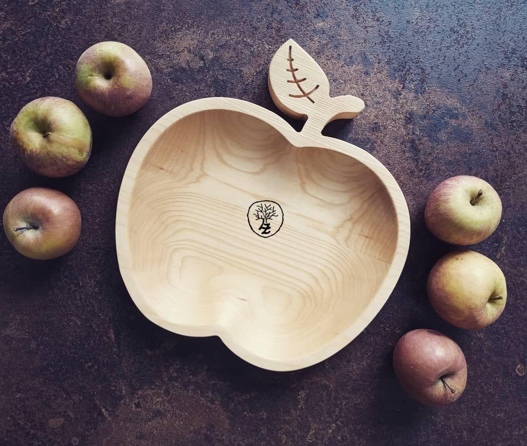dřevěná miska jablíčko
